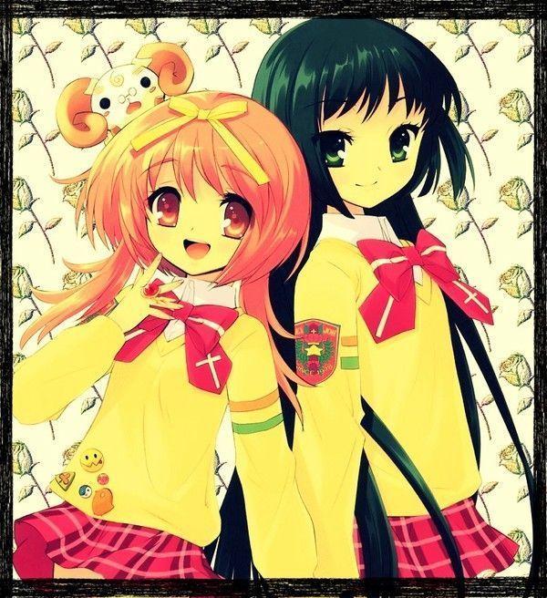 Image fille manga meilleure amie