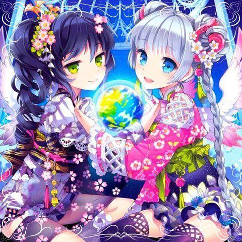 Image fille manga meilleures amies