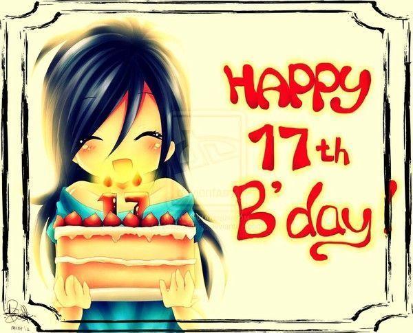 dessin manga joyeux anniversaire