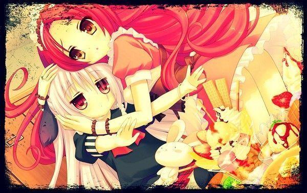 Image de fille manga meilleures amies