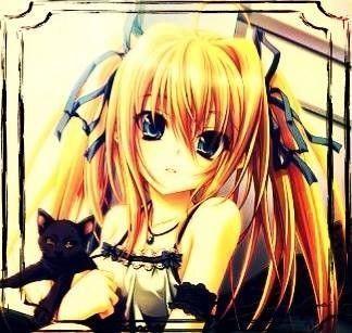 Image de fille manga cheveux blond