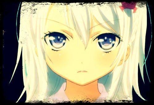 Fille manga cheveux blanc - Visage manga fille ...