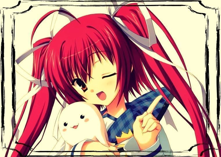 Image de fille manga cheveux rouge - Image fille manga ...